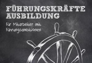 Lenkrad mit einer weißen Aufschrift: Führungskräfte Ausbildung