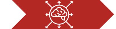 Gehirn mit Pfeilen
