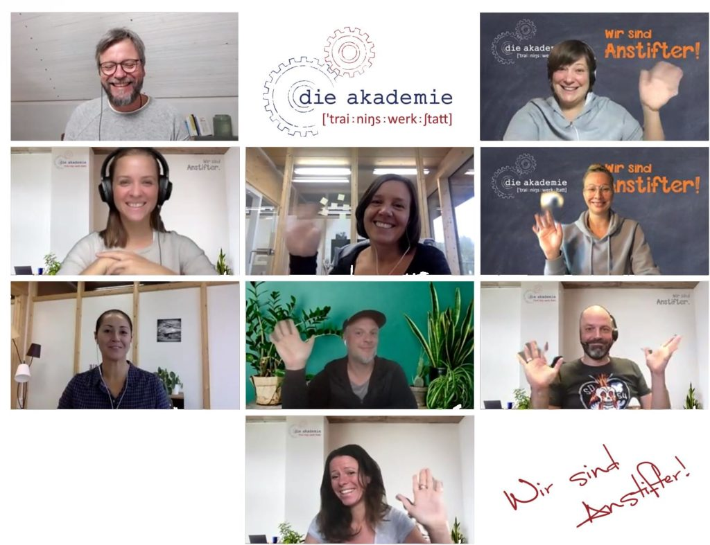 Das Team in der online Akademie